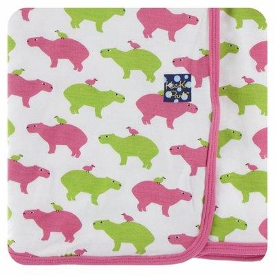 Kickee Pants Print Swaddling Blanket (Natural Capybara)