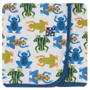 Kickee Pants Print Swaddling Blanket (Amazon Frogs)