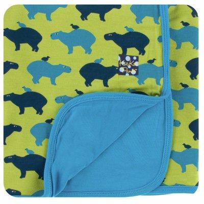 Kickee Pants Print Stroller Blanket (Meadow Capybara)