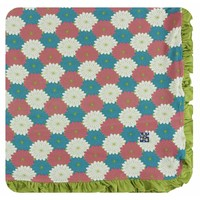 Kickee Pants Print Ruffle Toddler Blanket (Tropical Flowers)