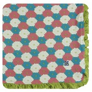 Kickee Pants Print Ruffle Toddler Blanket (Tropical Flowers)