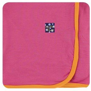 Kickee Pants Solid Swaddling Blanket (Flamingo with Tamarin)