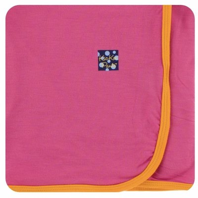 Kickee Pants Solid Swaddling Blanket (Flamingo with Tamarin)