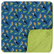 Kickee Pants Print Toddler Blanket (Twilight Tropical Birds)