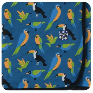 Kickee Pants Print Swaddling Blanket (Twilight Tropical Birds)
