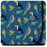 Kickee Pants Print Swaddling Blanket (Twilight Tropical Birds)