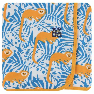 Kickee Pants Print Swaddling Blanket (Tamarin Monkey)