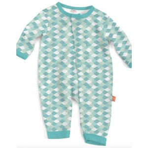 Magnificent Baby Green Mod Fish Modal Magnetic Coverall