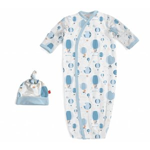 Magnificent Baby Blue Up In The Air Modal Magnetic Gown & Hat Set