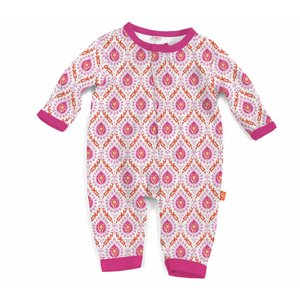 Magnificent Baby Floral Damask Modal Magnetic Coverall