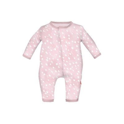 Magnificent Baby Pink Doeskin Modal Magnetic Coverall