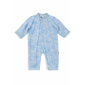 Magnificent Baby Blue Doeskin Modal Magnetic Coverall