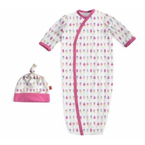 Magnificent Baby Ice Cream Modal Magnetic Gown & Hat Set