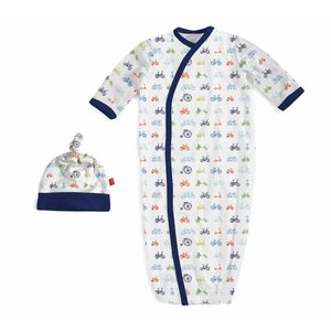 Magnificent Baby Bikes Modal Magnetic Gown & Hat Set