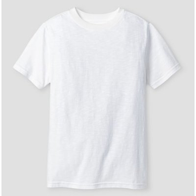 Monag Cat&Jack Boys' Classic Slub Short Sleeve T-Shirt (White)