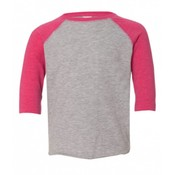 Monag 3330 Rabbit Skins Toddler Baseball Raglan (Pink/Heather Grey)