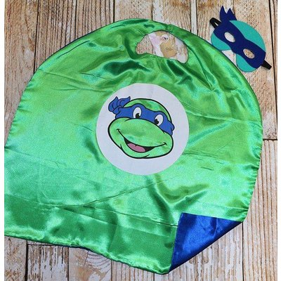 Lincoln&Lexi Superhero Cape & Masks-TMNT-Blue