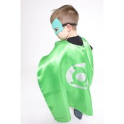 Lincoln&Lexi Superhero Cape & Masks-Green Lantern