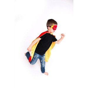 Lincoln&Lexi Superhero Cape & Masks-Flash