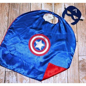 Lincoln&Lexi Superhero Cape & Masks-Captain America