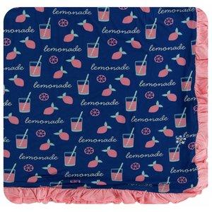 Kickee Pants Print Ruffle Toddler Blanket (Pink Lemonade - One Size)