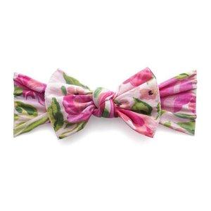 Baby Bling Printed Knot (Pink Rose)