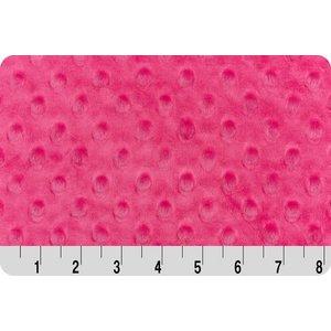 Hot Pink Minky Dot