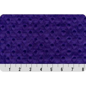 Lincoln&Lexi Purple Minky Dot