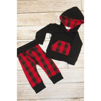 "Lincoln&Lexi The ""Rocco"" Buffalo Plaid Sweatsuit"
