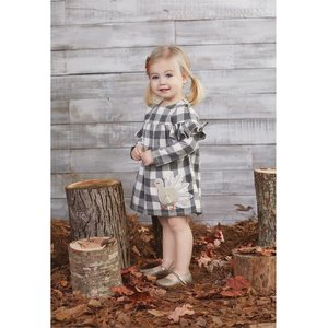 Mud Pie Pre Order- Buffalo Check Turkey Dress Toddler