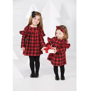Mud Pie Pre Order- Buffalo Check Dress & Bloomer Set