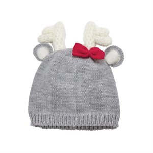 Mud Pie Pre Order- Deer Bow Knitted Hat