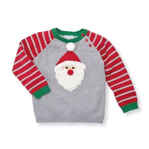 Mud Pie Pre Order- Stripe Santa Sweater