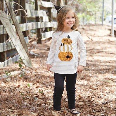 Mud Pie Pre Order- Glitter Pumpkin Tunic & Legging Set