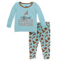Kickee Pants Holiday Long Sleeve Pajama Set (Christmas Cookies)