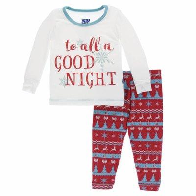 Kickee Pants Holiday Long Sleeve Pajama Set (Nordic Print)