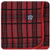 Kickee Pants Holiday Swaddling Blanket (Christmas Plaid - One Size)