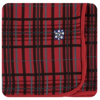 Kickee Pants Holiday Swaddling Blanket (Christmas Plaid - One Size)