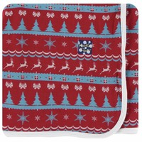 Kickee Pants Holiday Swaddling Blanket (Nordic Print - One Size)
