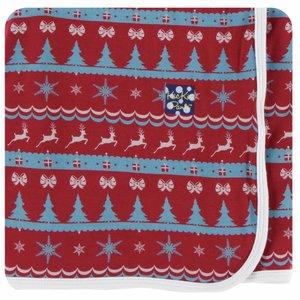 Kickee Pants Holiday Swaddling Blanket (Nordic Print - One Size)