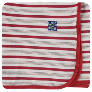 Kickee Pants Holiday Swaddling Blanket (Rose Gold Candy Cane Stripe - One Size)