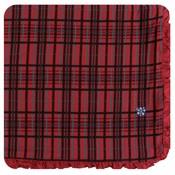 Kickee Pants Holiday Ruffle Toddler Blanket (Christmas Plaid - One Size)