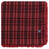 Kickee Pants Holiday Ruffle Toddler Blanket (Christmas Plaid - One Size)