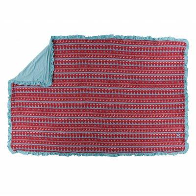 Kickee Pants Holiday Ruffle Toddler Blanket (Nordic Print - One Size)