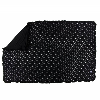 Kickee Pants Holiday Ruffle Toddler Blanket (Silver Bright Stars - One Size)