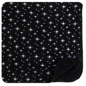 Kickee Pants Holiday Toddler Blanket (Silver Bright Stars - One Size)