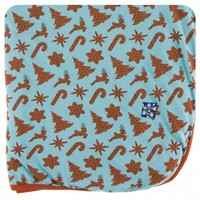 Kickee Pants Holiday Throw Blanket (Christmas Cookies - One Size)