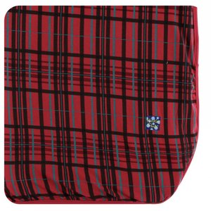 Kickee Pants Holiday Throw Blanket (Christmas Plaid - One Size)