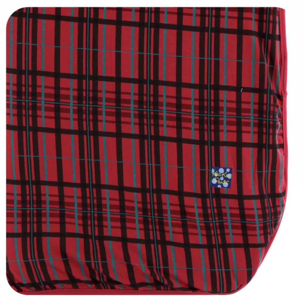 kickee pants holiday throw blanket christmas plaid one size