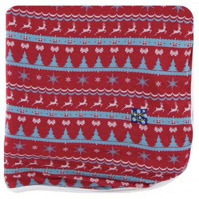 Kickee Pants Holiday Throw Blanket (Nordic Print - One Size)